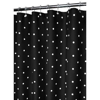 Buy Low Price Watershed Classic Polka Dot Shower Curtain In Black White Shower Curtain Mall