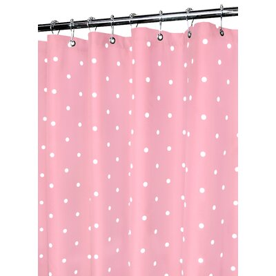 Watershed Prints Polyester Classic Polka Dot Shower Curtain - Color: Light Punch / White at Sears.com