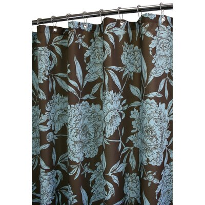 Watershed Prints Polyester Peony Shower Curtain - Color: Coffeebean / Light Aegean at Sears.com