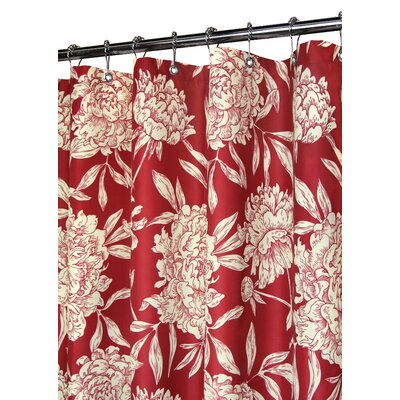 Low Price Watershed Peony Shower Curtain in Moroccan Red   CreamBuy Low Price Watershed Peony Shower Curtain in Moroccan Red  . Red And Cream Shower Curtain. Home Design Ideas