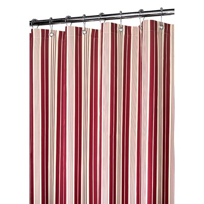Red striped shower curtain