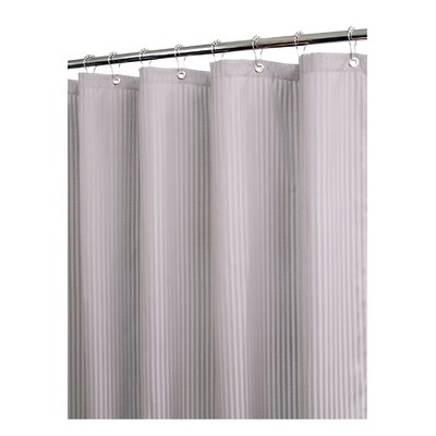 Prairie Solid Satin Stripe Shower Curtain Color: Antique Silver