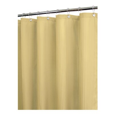 Solid Satin Stripe Shower Curtain Color: Sahara