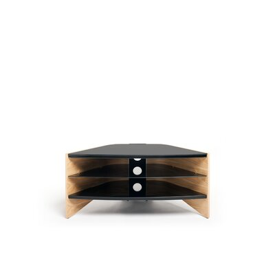 Riva TV Stand with Two Shelves Finish: Light Oak