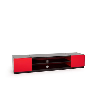 Stoore TV Stand Top Finish: High Gloss Black, Door Finish: High Gloss Red