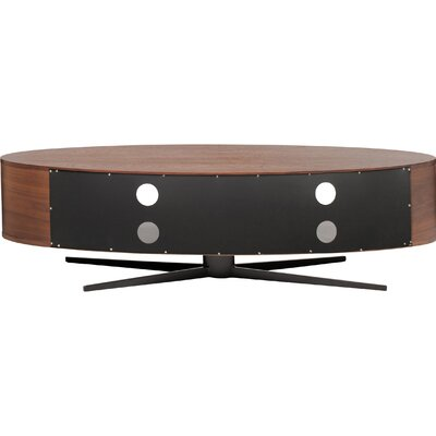 Eclipse TV Stand Finish: Walnut / Grey