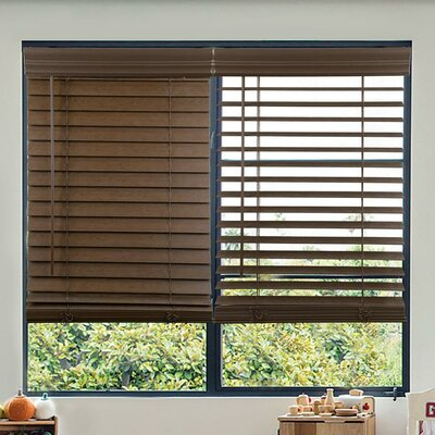 Cordless Faux Wood Venetian Blinds