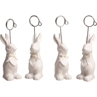4 Piece Bunny Card Holder Set