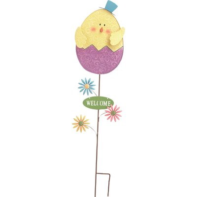Easter Chick Yard Garden Stake