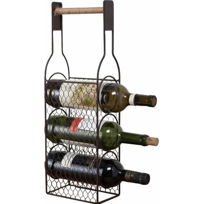 East Machais Rustic 3 Tabletop Wine Bottle Rack