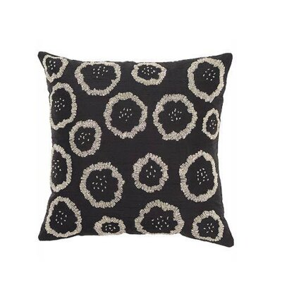 Silk Throw Pillow Cover Color: Black
