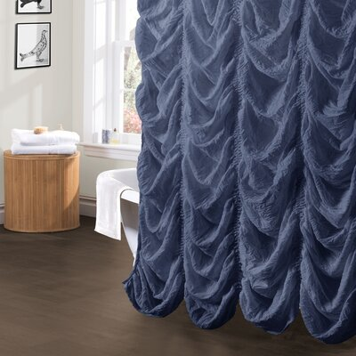 Madelynn Shower Curtain Color: Jean