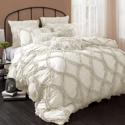 Riviera 3 Piece Comforter Set Size: Queen, Color: Ivory