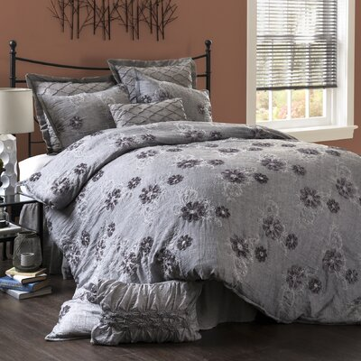 Sara 4 Piece Comforter Set Size: King
