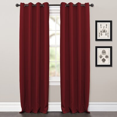 Lush Decor Jamel Window Curtain Panels (Set of 2) - Color: Red