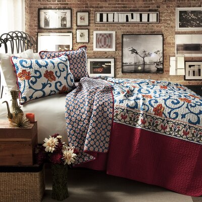 Karlovice 3 Piece Reversible Coverlet Set Size: Full / Queen