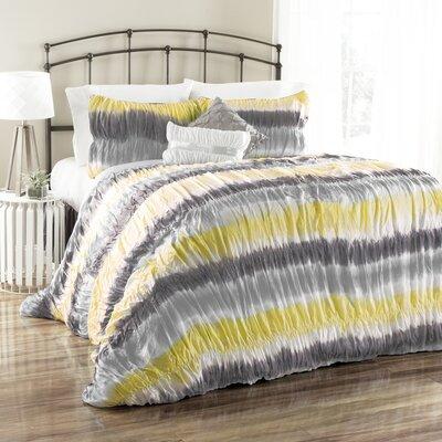 Bloomfield 5 Piece Tie Dye Comforter Set Size: Full / Queen