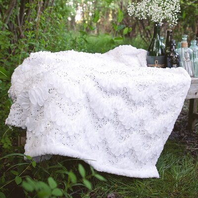 Giselle Throw Color: White