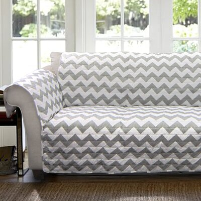 Chevron Box Cushion Loveseat Slipcover