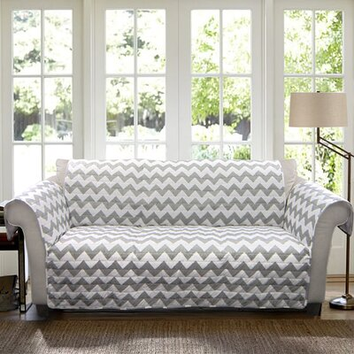 Chevron Box Cushion Sofa Slipcover