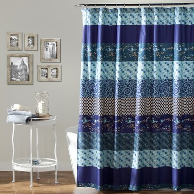 Quentin Polyester Shower Curtain Color: Blue Multi