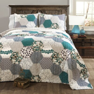 Cricket 3 Piece Reversible Quilt Set Size: Full / Queen