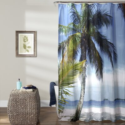 Beach Palm Tree Shower Curtain 16T000925