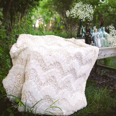 Giselle Throw Color: Ivory