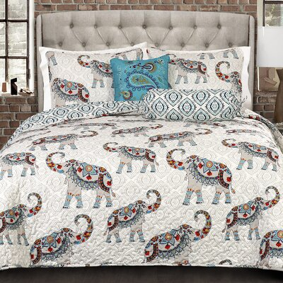 Carlo 5 Piece Reversible Quilt Set Size: Full/Queen