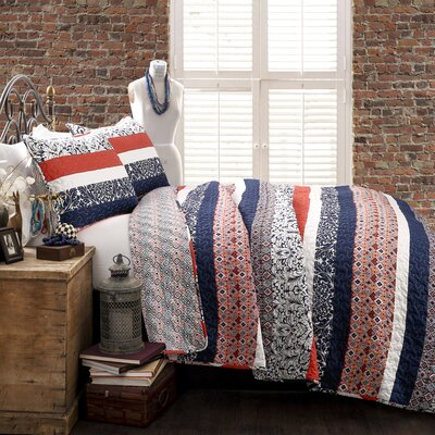 Zehnder 3 Piece Reversible Quilt Set Size: Full/Queen