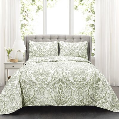 Damarus 3 Piece Reversible Quilt Set Size: Full/Queen