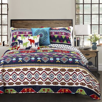 Mercer 4 Piece Reversible Quilt Set Size: Full/Queen