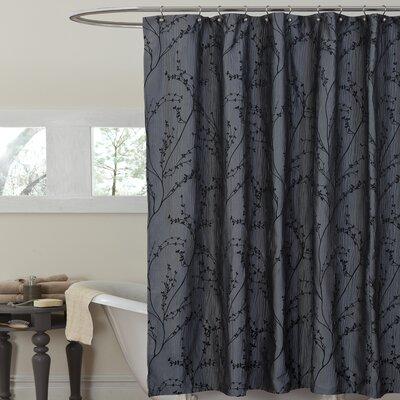 Alvin Floral Texture Shower Curtain
