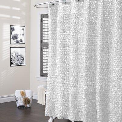 Forcier Shower Curtain Color: White