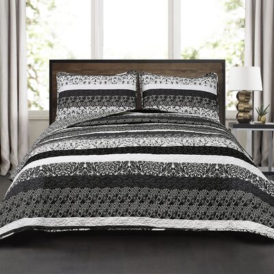 Zehnder 3 Pieces Reversible Quilt Set Size: Full/Queen
