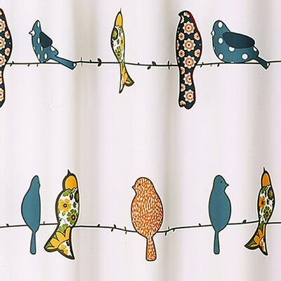 Cohla Shower Curtain Color: Blue/Yellow