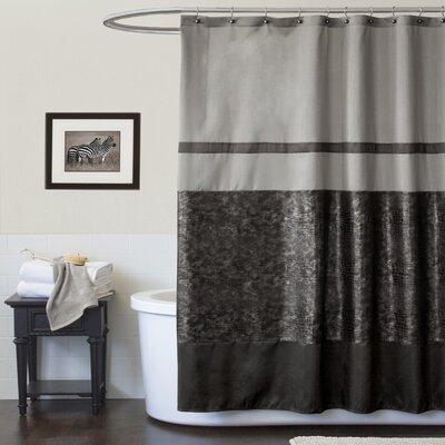 Lush Decor Croc Black Shower Curtain