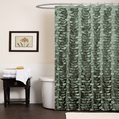 Georgia Shower Curtain Color: Sea Green