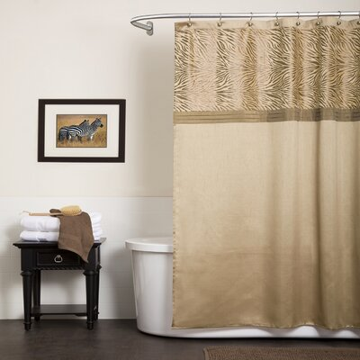 Serengeti Shower Curtain Color: Tan