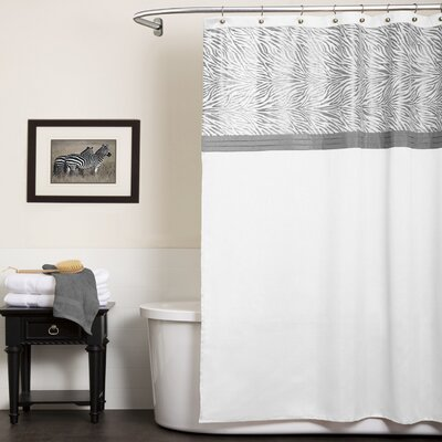 Serengeti Shower Curtain Color: White