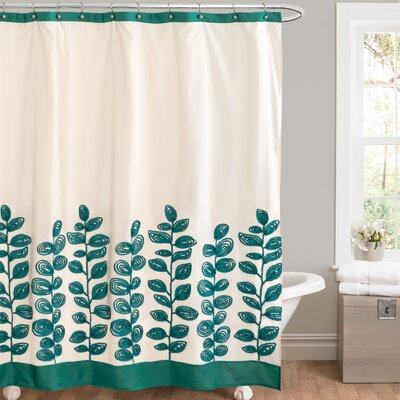 Vineyard Allure Shower Curtain Color: Green