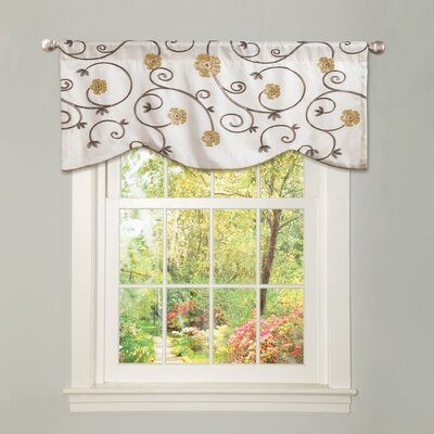 "Lush Decor Royal Garden 42"" Curtain Valance - Color: Taupe at Sears.com"