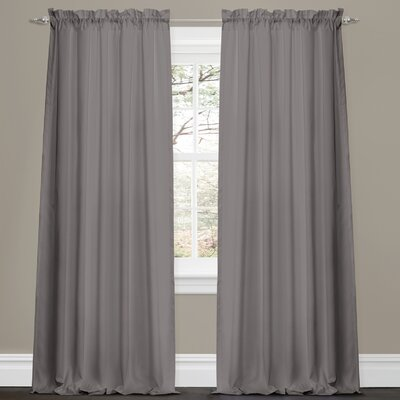 Lush Decor Lucia Rod Pocket Curtain Panel Pair (Set of 4) - Color: Red