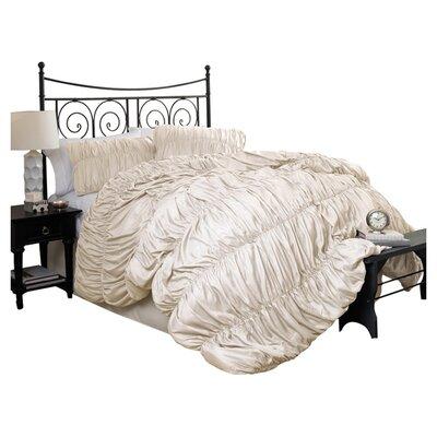 Lush Decor Venetian 4 Piece Comforter Set - Size: Queen, Color: Ivory
