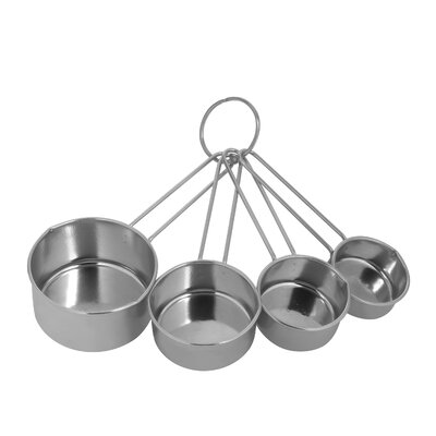 4 Piece Stainless Steel Measuring Cup Set 1094604