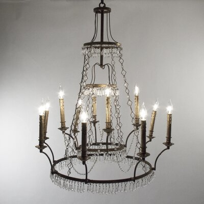 Gauvain 10-Light Candle-Style Chandelier