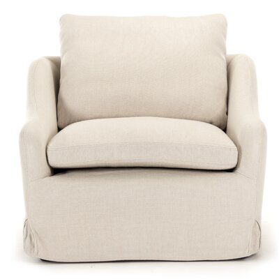 Rich Club Box Cushion Armchair Slipcover