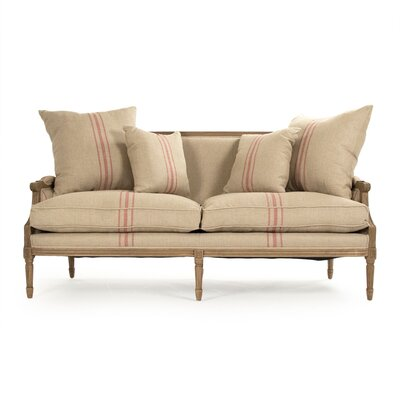 Bodil Loveseat Upholstery: Red Stripe