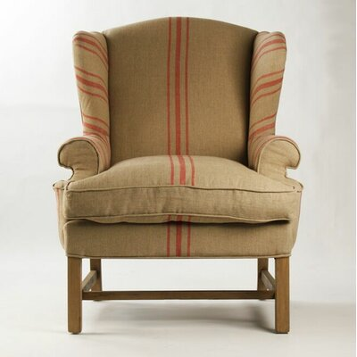 Barnicle Stripes Wingback Chair
