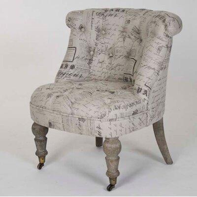 Cajsa Natural Linen Slipper Chair